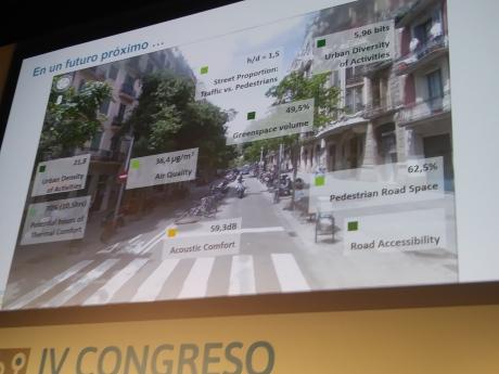 Distintos momentos de la exposición de proyectos de las ciudades referencia españolas.